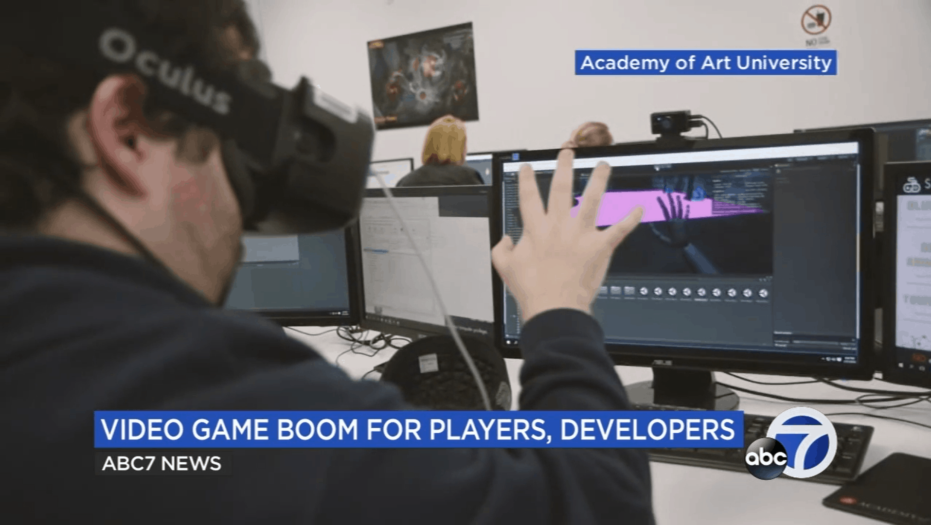 Academy of Art Game School featured on ABC7 News