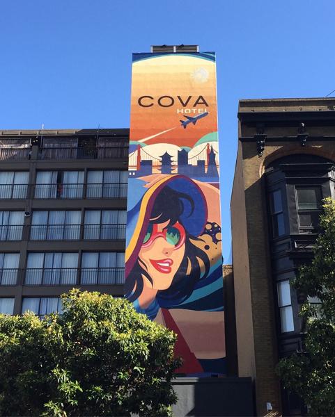 COVA Hotel Mural