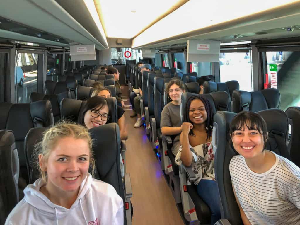 IAD-five keys-students-bus