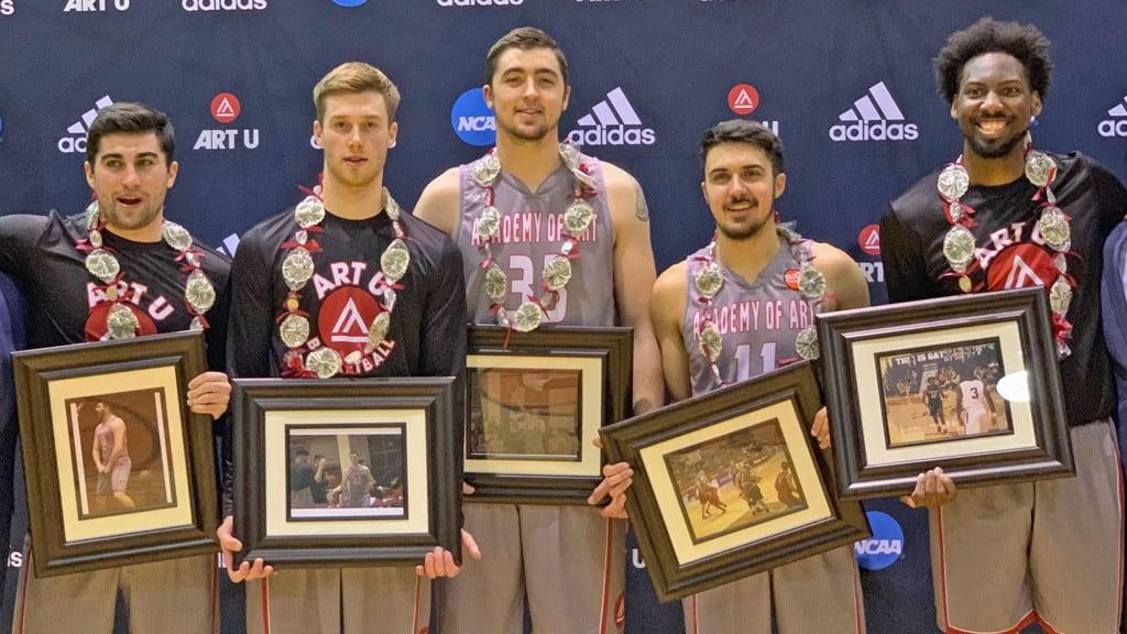 Graduating Senior Members of ART U Men's Basketball Team