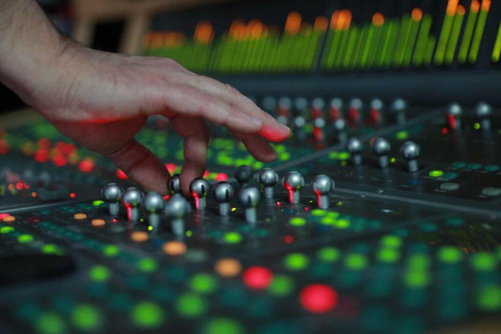 Sound designer at work