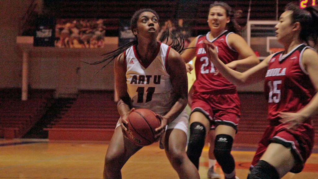 WBB - Aari'yanna Sanders (photo by Mason Verhees)