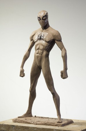 "The original maquette Blasich created for a character in ""Spider-Man: Into the Spider-Verse."""