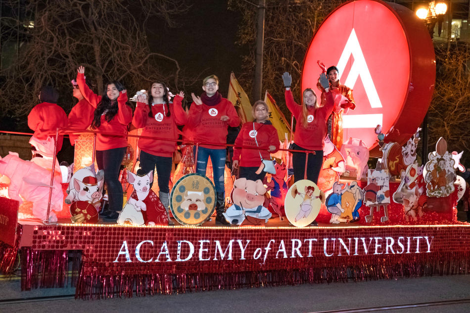 Academy of Art 2019 Yea of the Pig float