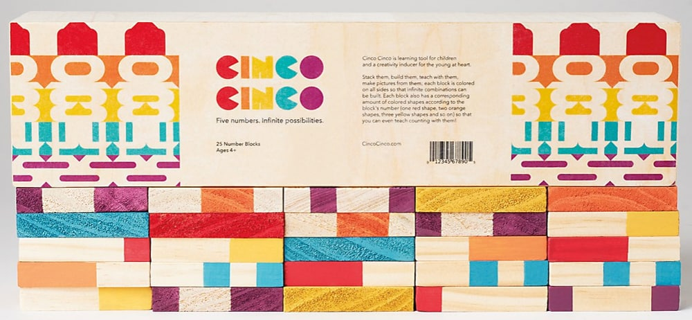 Academy Graphic Design graduate Celina Oh's Cinco Cinco wooden block set was recognized by Communications Arts in its Annual Design Competition.