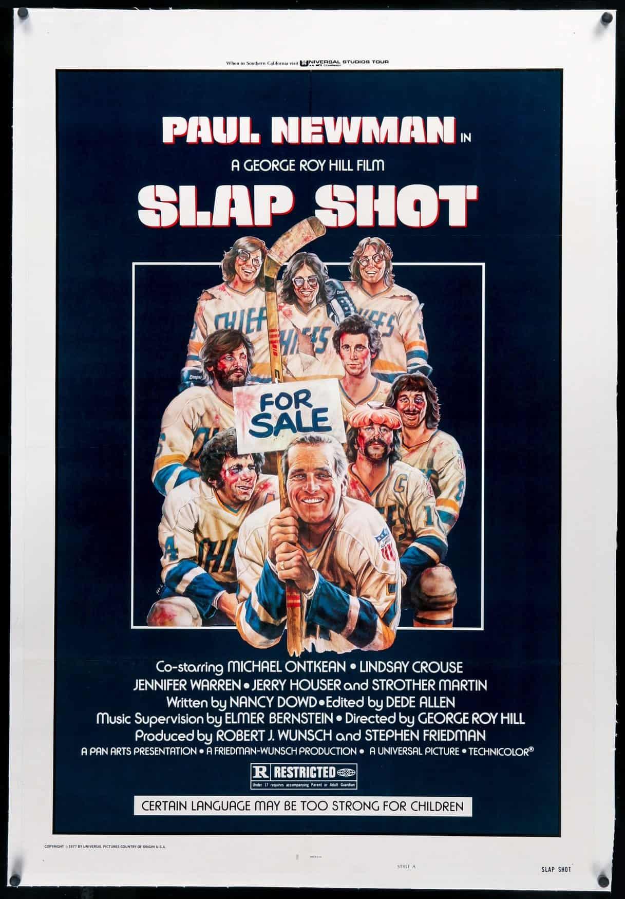 Slap Shot Movie Poster - Craig Nelson