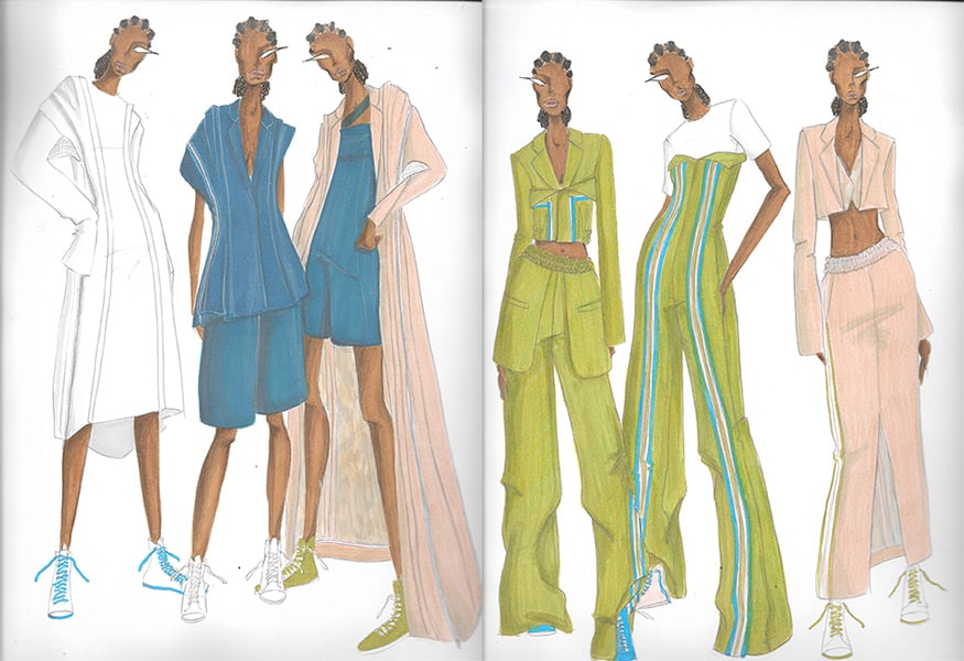 Brianna Toomer BFA Fashion Design Illustrated Lineup
