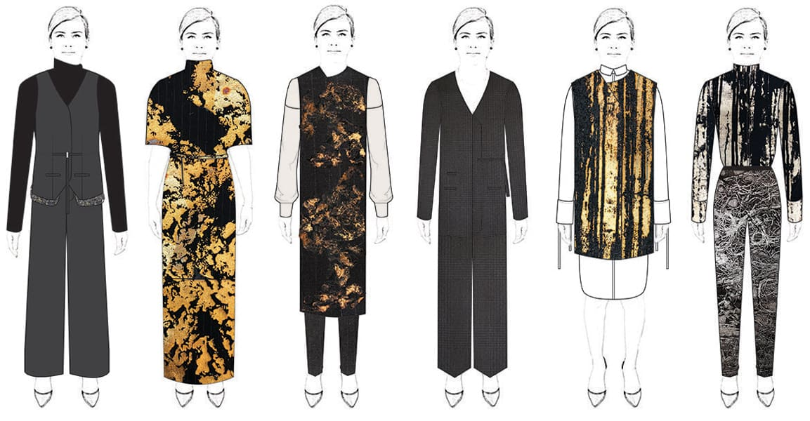 Denise Ramos BFA Fashion Design Illustrated Lineup