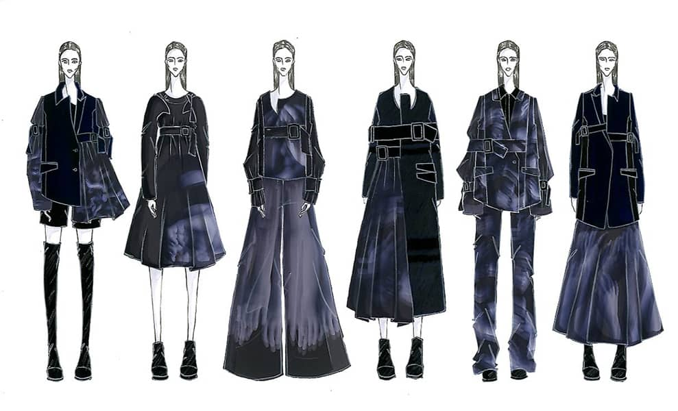Felix Ryan BFA Fashion Design Illustrated Lineup