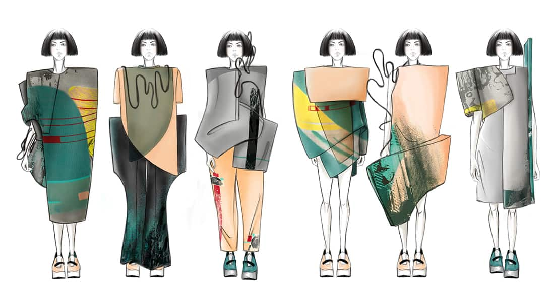 Hanh Susan Nguyen BFA Fashion Design Illustrated Lineup