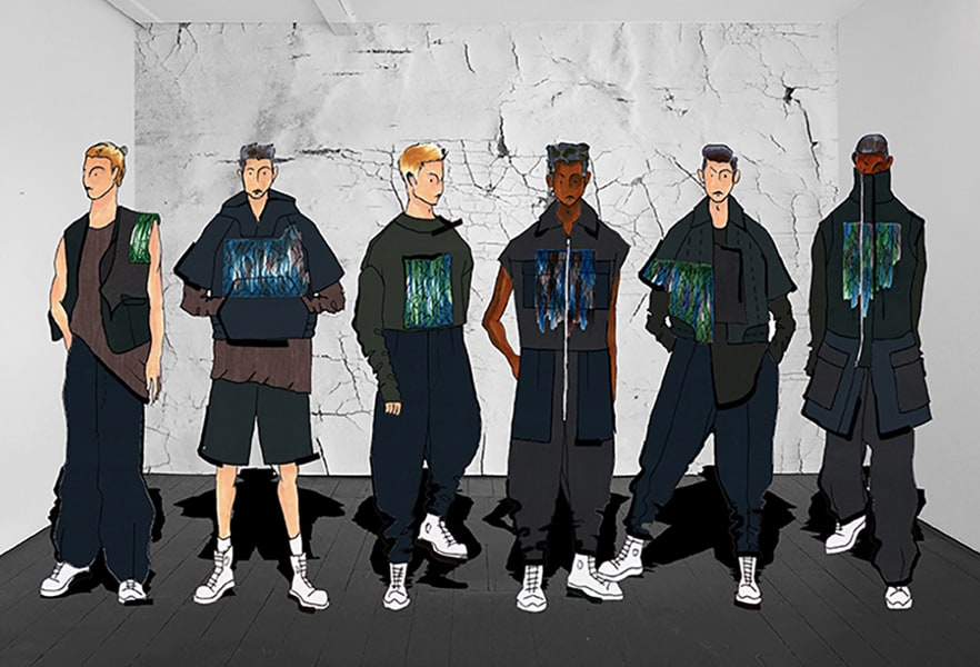 Justin Ho BFA Fashion Design Illustrated Lineup