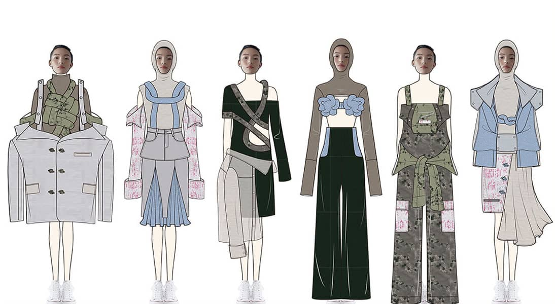Minghan Xue BFA Fashion Design Illustrated Lineup