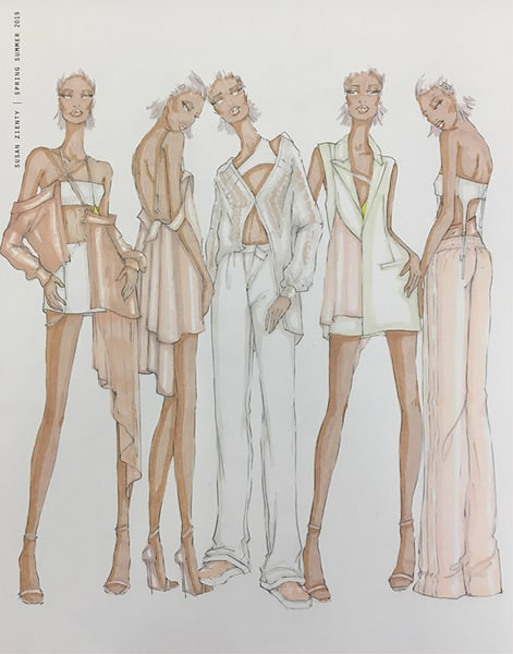 Susan Zienty BFA Fashion Design Illustrated Lineup