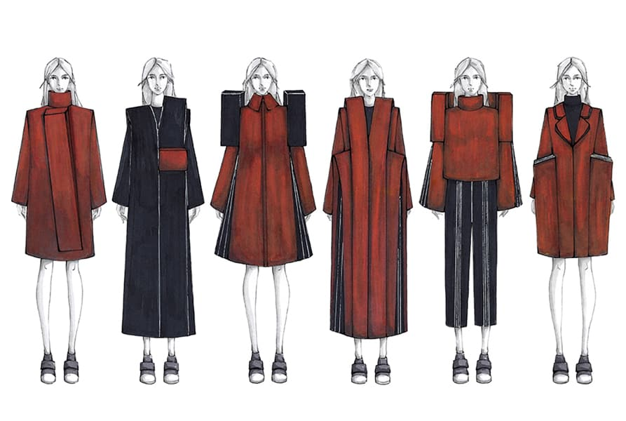 Zhouyi Li BFA Fashion Design Illustrated Lineup