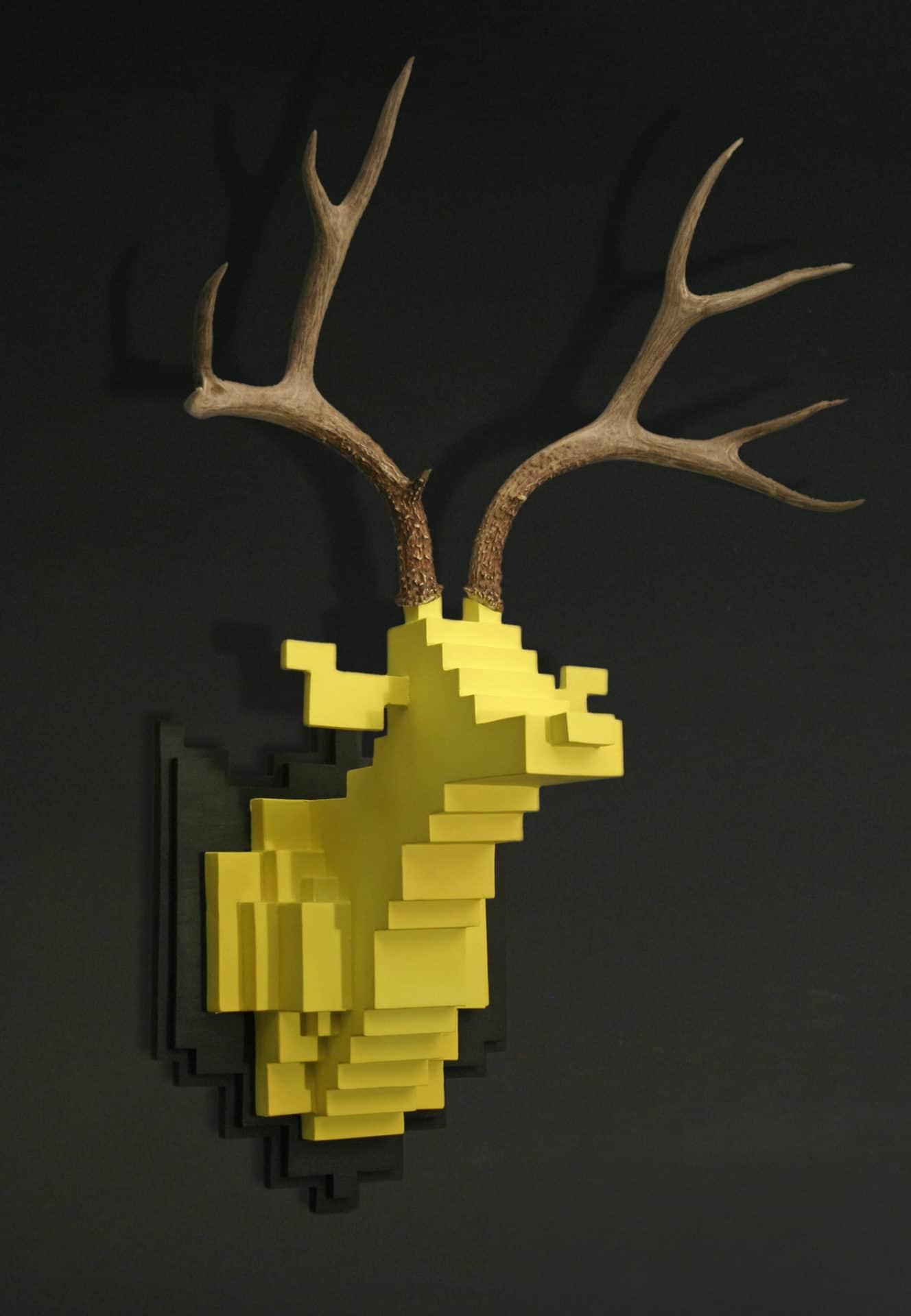 Jihoon Choi Fine Art Pixel Deer