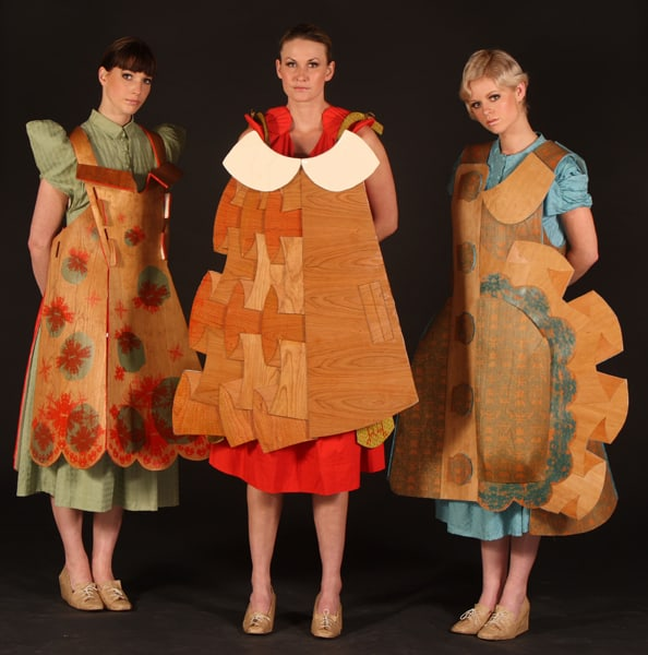 Lina Gruener Majorie Cox Fashion Wooden Dresses