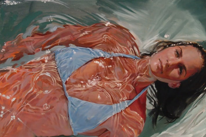 """""""Ms Leigh-Anne Tucker,"""" oil on wood panel, by Benjamin Anderson"""