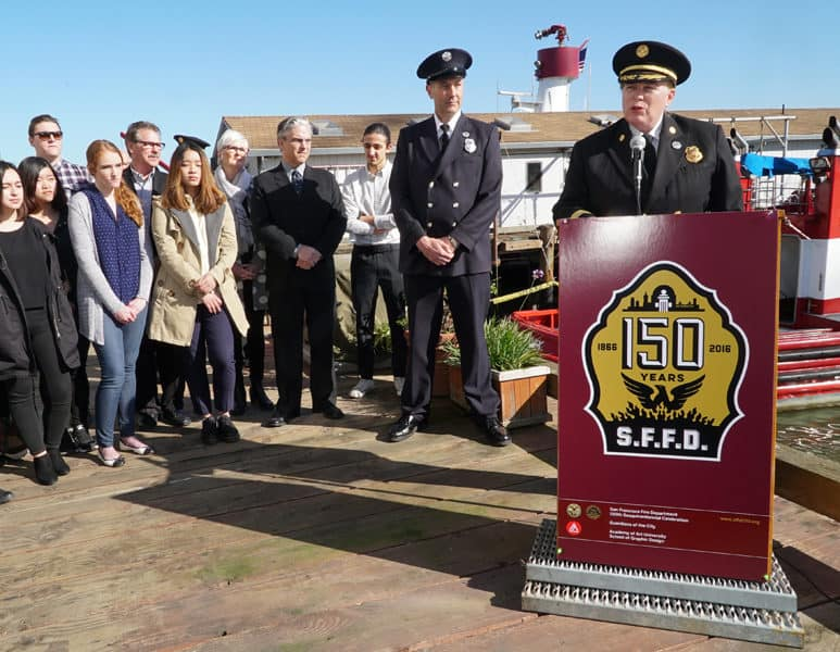 Students Create Branding for SF Fire Department's 150th Anniversary