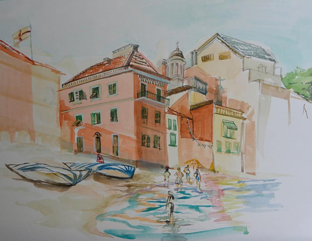 """Sestri Levanti 3,"" by Carol Nunnelly, watercolor on paper"