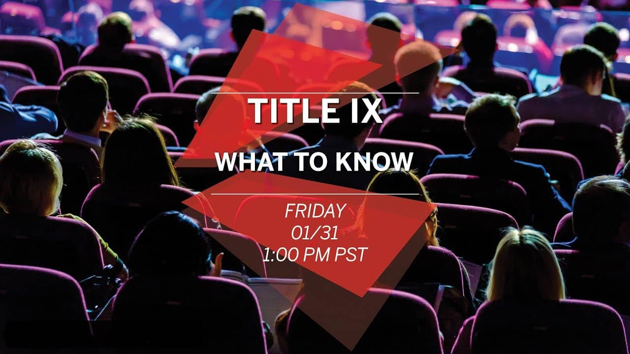 Title IX- What to Know - Livestream - Spring 2020